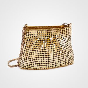 Bright Gold Purse With Chain
